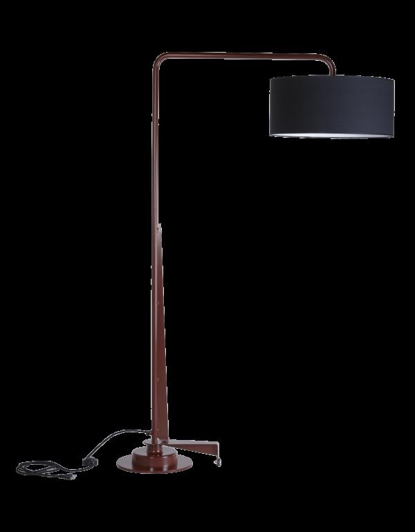 Arcum lamp zwart rood