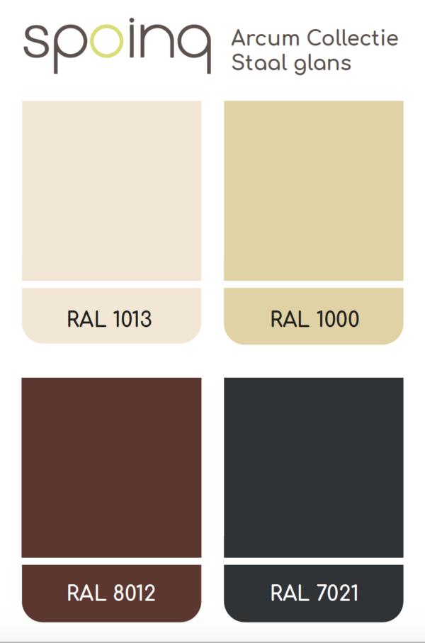 kleuren staal