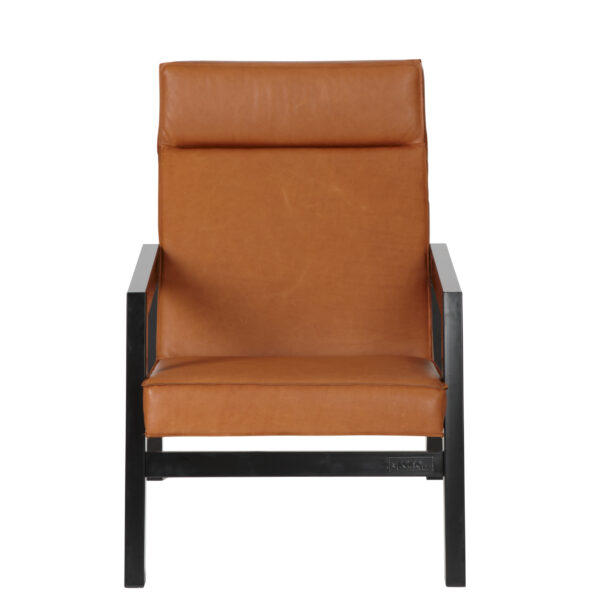 Fauteuil Casco Leather camel front