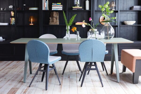 Jane chairs and Forbo table